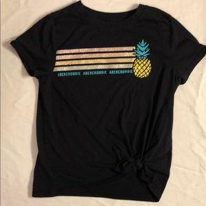 Abercrombie side-tie pineapple t-shirt